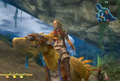 Basch and chocobo