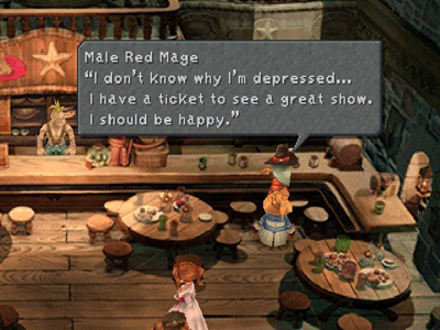 A red mage in Alexandria's Morning Star Bar