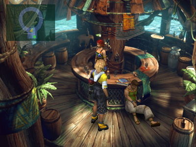Tidus in Kilika tavern