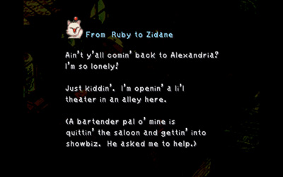 Ruby's Mognet letter to Zidane