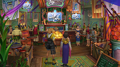Tidus and Yuna in Luca Bar, FFX