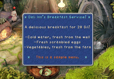 Dali Inn's Breakfast Service